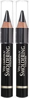 L'Oreal Paris Makeup Voluminous Smoldering Pencil Eyeliner with Custom Sharpener, Kajal Inspired & Richly Intense, Black, 2 Count