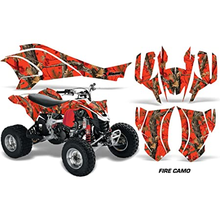 Carbon X Red AMR Racing Graphics Can-Am DS-250 2006-2016 ATV Vinyl Wrap Kit