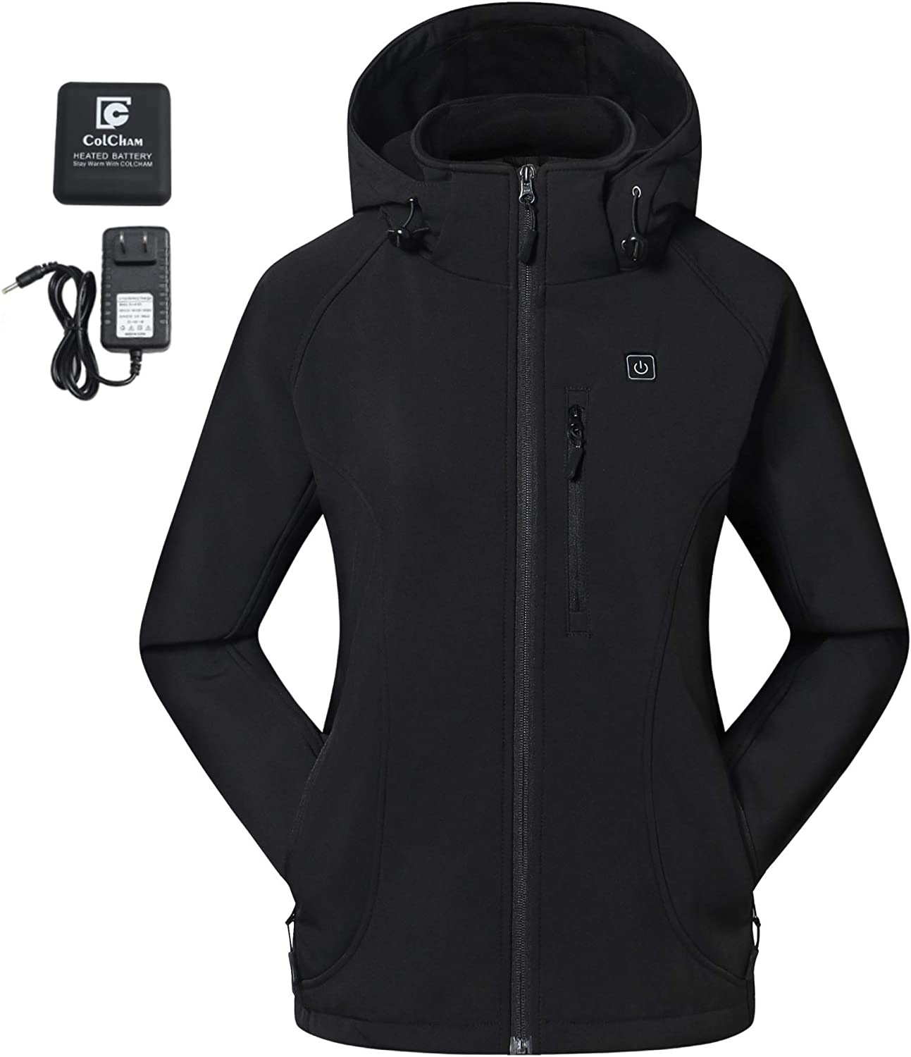 COLCHAM Heated Jacket Department store for Kansas City Mall Women and with Battery Hood Detachable