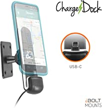 iBOLT ChargeDock USB-C AMPS Ultimate Magnetic Vehicle Dock/Mount/Holder w/ 2m USB Certified Type C to USB-A Charging Cable. Works with All USB-C Phones (Samsung Note 10/9, S10 / S9 etc.)