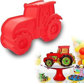 Gloryit Moules en Silicone en Forme de Tracteur la Cuisson de GâTeaux Moules à Pain et à PâTisserie Faits à la Main Poussi...