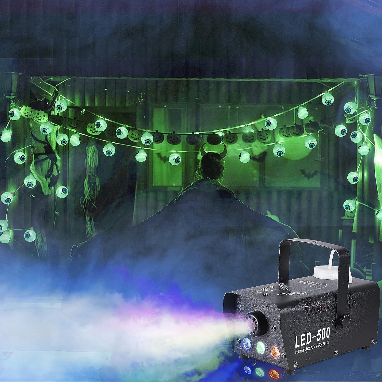 XIFEINIU Max 64% OFF Halloween Decorations 500W LED Green Machine Fog and Selling selling E