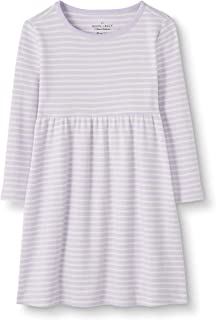 Moon and Back by Hanna Andersson Girls' Organic Cotton Long Sleeve Knit Dress