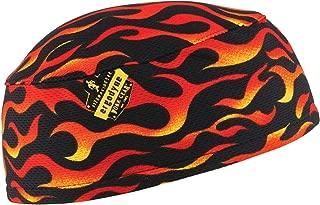 Ergodyne Chill-Its 6630 Absorptive Moisture-Wicking Skull Cap, Flames