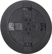 Wiremold RC7ATCBK Flush Multi-Service Poke-Thru Device Black RC7 Series