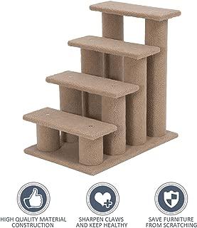 allgoodsdelight365 24'' Cat Tree 4-Step Stairway Perch Scratcher Pet Steps Stairs Dog Ramp Ladder