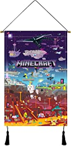 Game Poster Game Tapestry Wall Scroll for Birthday Gift Living Room Bedroom DoorDecor 16x24in