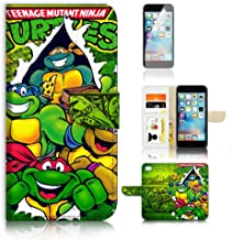 (For iPhone 8/iPhone 7) Flip Wallet Case Cover & Screen Protector Bundle! A20467 Ninja Turtle TMNT