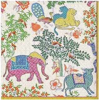 Caspari Les Jardins De Mysore - Servilletas de papel (20