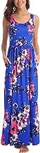 Zattcas Women Floral Maxi Dresses Sleeveless Casual Summer Long Dress with Pockets