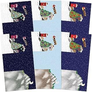 Hunkydory Festive Moments Set The Scene Z- Fold Card Blanks & Envelopes- Christmas Town MSTONECB003