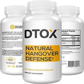 Natural Stacks: DTOX - Hangover Pills - 60 Vegan Capsules - Natural Hangover Detoxification - Hangover Prevention - Super Antioxidants - Gluten Free - Vegan - Paleo Friendly