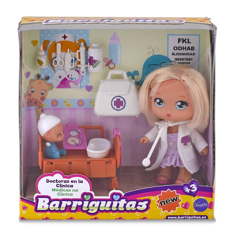Amazon.es: Barriguitas- Doctora en la Clínica, con 1 muñeca y 1 bebé paciente (Famosa 700014252): Juguetes y juegos
