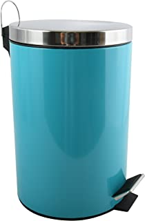 MSV 12 L Cubo Pedal Metalico 12L Azul 39.4x1x25.1 cm Metal