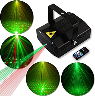 Disco Lights Party Lights GOOLIGHT Dj Strobe Light LED Projector Metal Case Sound Activated Stage Lighting with Remote Control for Birthday Parties Bar KTV Karaoke Equipment Dancing Christmas Wedding