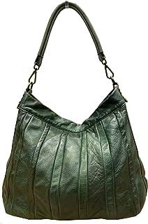 BZNA Bag Lennja grün Italy Designer Damen Handtasche Schultertasche Tasche Leder Shopper Neu