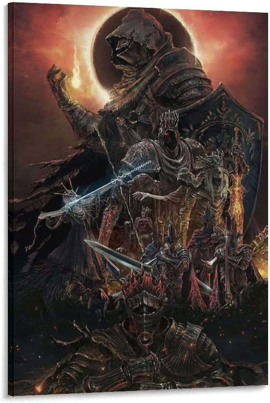 YUANDONG Dark Souls Fantasy Factory outlet Art P Wall Canvas Max 80% OFF and Poster