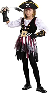Girl Pirate Seven Seas costume for Girls Themed Parties, Halloween