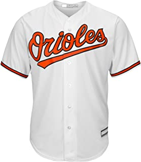 Outerstuff Baltimore Orioles White Blank Youth Cool Base Home Jersey