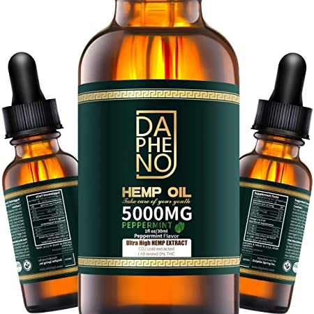 (2 Pack) Hemp Oil 10000mg, Natural Hemp Seed Oil Extract for Anxiety & Stress Relief, Grown & Made in USA, Help with Heart, Skin, Sleep