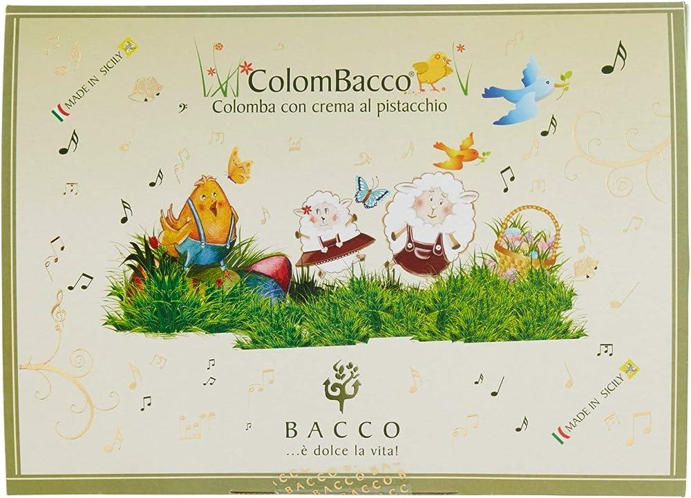 Bacco, colomba pasquale  al pistacchio, 900 gr,prodotto artigianale siciliano