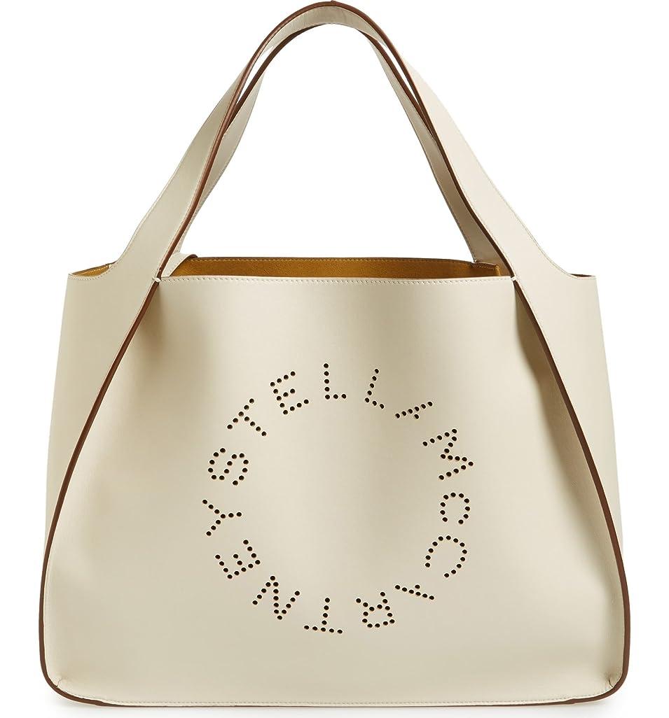 道徳の抜本的なアフリカ(ステラ マッカートニー) STELLA MCCARTNEY ミディアムパンチングロゴフェイクレザートート Medium Perforated Logo Faux Leather Tote (並行輸入品)