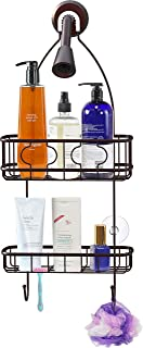 Simple Houseware Bathroom Hanging Shower Head Caddy Organizer, Bronze (22 x 10.2 x 4.2 inches)