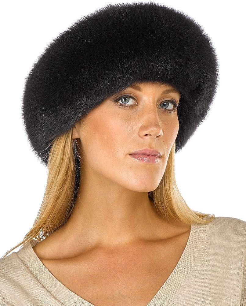 Charcoal Grey Fox Fur Headband