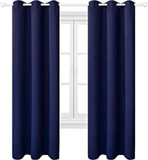 Texlab Blackout Curtains for Bedroom 42 x 84 Inch - Grommet Thermal Insulated Summer Heat/Winter Cold, Light Blocking Window Curtain Panels for Living Room, Set of 2 Pieces, Navy Blue
