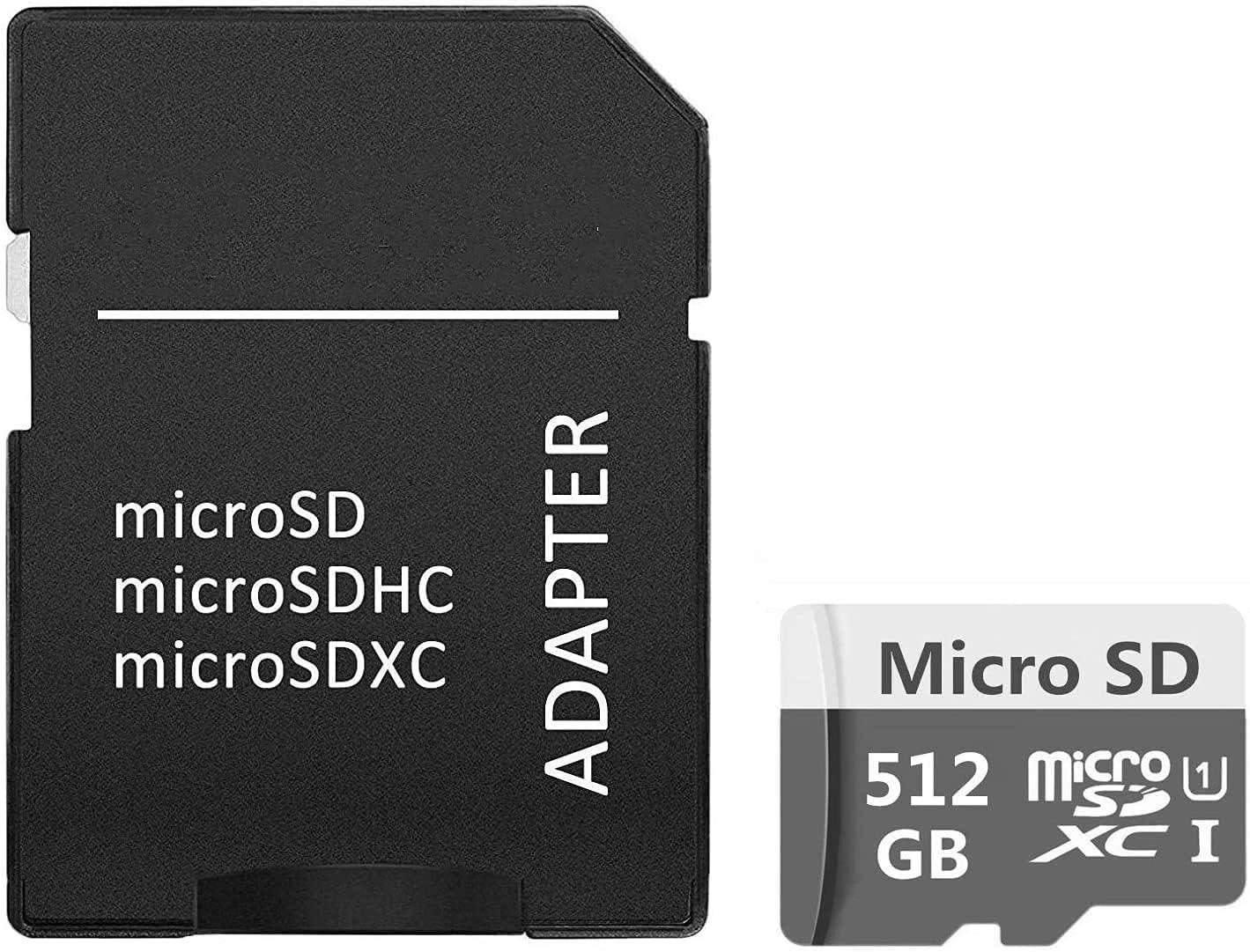 512GB Micro SD Card Ultra Micro SDXC UHS-I Memory Card 512GB High Speed Class 10 TF Card with SD Adapter (512GB-C)