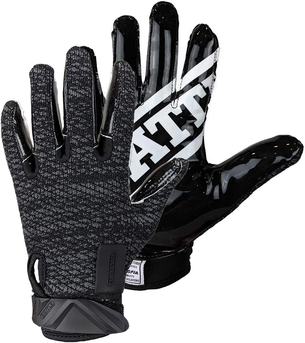 Battle Ultra-Hitch Adult Football Receiver Gloves