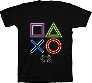 Playstation boys PSE002BLAZ Boys Playstation Button Tee