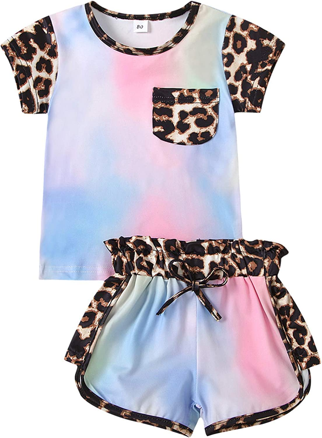 Nie Cuimeiwan Outstanding mart Toddler Baby Girl Sleeve Pri Short Leopard Clothes