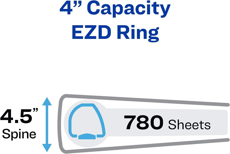 New Durable View 3 Ring Binder 1.5 EZD Rings 1 Black Binder