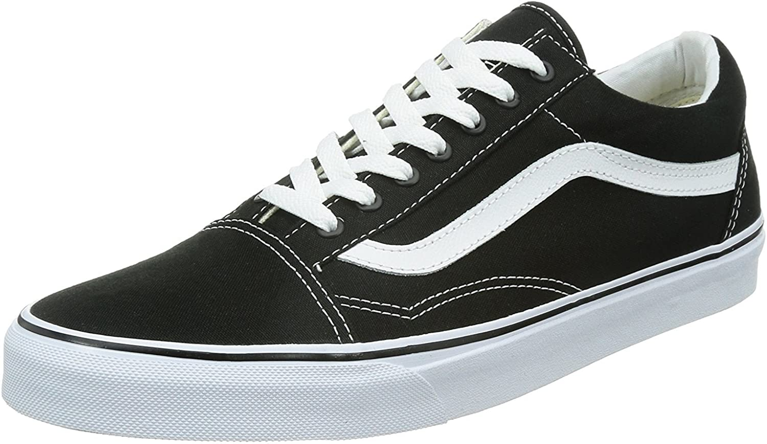 Genuine Free Shipping Vans Old Skool Unisex Adults' Black White Trainers Low-Top 55% OFF