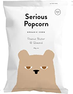 Serious Foods Popcorn, Peanut Butter and Almond, 80g