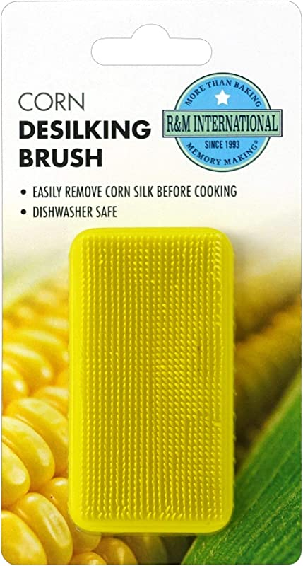 R M International 3607 Corn De Silking Brush One Size Green Yellow