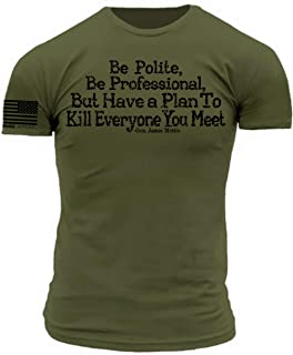 General Mattis - Have a Plan to Kill Everyone You Meet Military Green Premium Athletic Fit T-Shirt