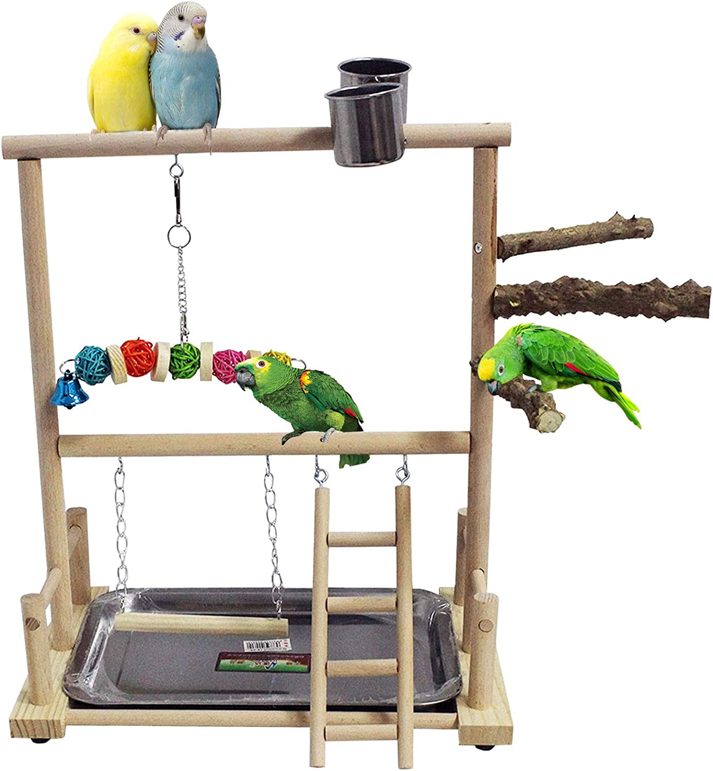 kathson Bird San Diego Mall Playground Price reduction Parrot Playstand Perch L Wood Toys Stand