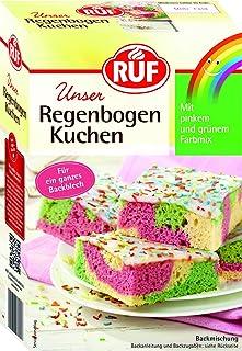 regenbogen kuchen RUF Regenbogen-Kuchen • Blechkuchen in Regenbogen-Farben mit Glasur und bunten Streuseln, 6er Pack 6 x 840 g