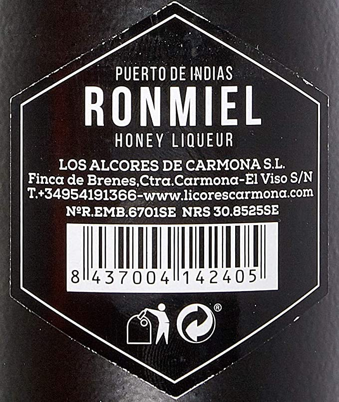 Puerto de Indias - Ron Miel, 750 ml