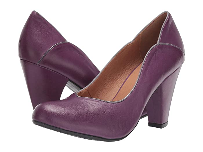 Rockabilly Shoes- Heels, Pumps, Boots, Flats Miz Mooz Cameo Purple Womens  Boots $149.95 AT vintagedancer.com