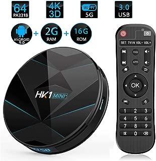 HK1 Mini+ Android 9.0 Smart TV Box, 2GB RAM 16GB ROM, RK3229, 28nm Quad core Cortex A7, High Cost Performance 4K OTT Box Solution, ARM Mali-400 GPU Box, H.265 Decoding 2.4GHz WiFi