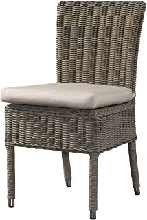 Padma's Plantataion Outdoor Boca Chair with White Outdoor Cushion
