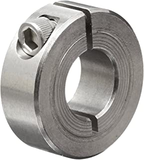 Climax Metal 1C-050-S T303 Stainless Steel One-Piece Clamping Collar, 1/2