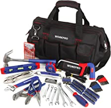 WORKPRO 156-Piece Home Repair Tool Set – Daily Use Hand Tool Kit with Wide Open..