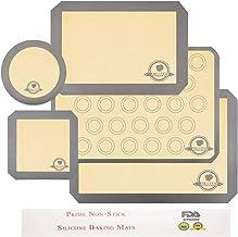 Aurrako Silicone Baking Mats for Baking Sheets,2 Half Sheets Mats+1 Quarter Sheet Liner+1 Round &1 Square Cake Pan Mat,Non...