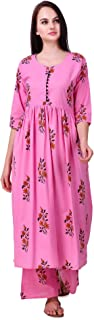 R.R.TEXTILES Cotton Kurti With Palazzo Pant Set for Women
