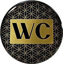 BIKE-label 900119VA Gold 3D sticker deurbordje WC informatiebord toiletbord 90 mm