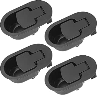 STARVAST Recliner Couch Release Handle Pack of 4, Sofa Recliner Handle Replacement Parts Universal Black Metal Pull Recliner Handle for fits Ashley and Major Recliner Brands
